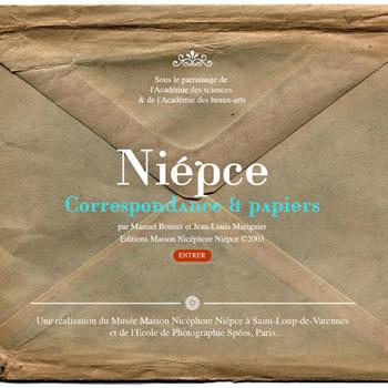 """2011 Presentation of """"Niepce, correspondances et papiers"""" online"""