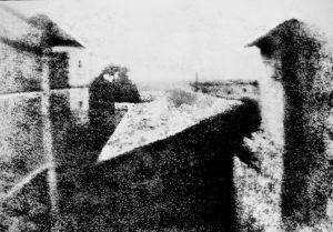 Point de vue du Gras, première photographie par Nicéphore Niépce