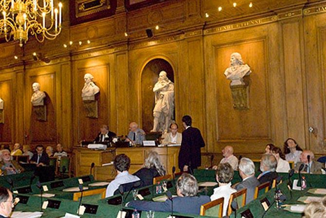 Nicéphore Niépce reçoit les honneurs de l'Institut de France à l'Académie des beaux-arts