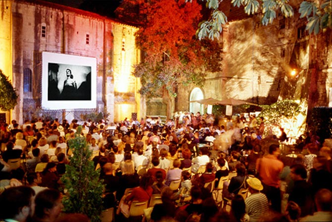 "At the ""Voies Off Festival"" in Arles"
