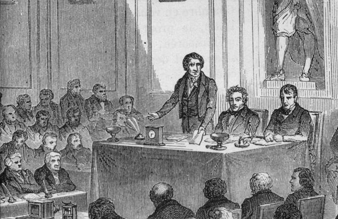 Annonce de l'invention de Daguerre le 19 août 1839, à l'Académie des Sciences.