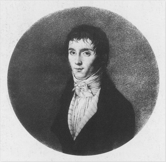 Portrait de Nicéphore Niépce dans sa jeunesse.