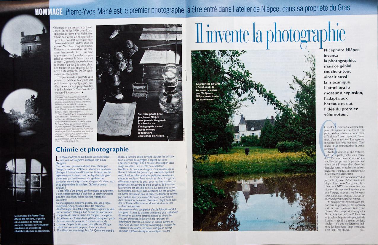 C Maison Et Jardin Magazine press - nicéphore niépce's house museum